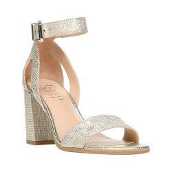 Women's Franco Sarto Malibu Ankle Strap Sandal Platinum Polyurethane