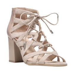 Women's Franco Sarto Meena Gladiator Sandal Soft Beige Microfiber/Polly Lux Leather