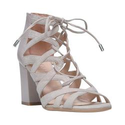Women's Franco Sarto Meena Gladiator Sandal Taupe Microfiber/Polly Lux Leather