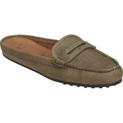 Women's A2 by Aerosoles Drive Time Penny Loafer Slide Mid Green Combo
