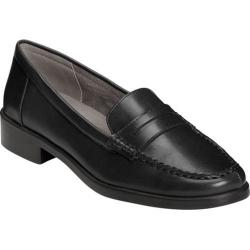 Women's A2 by Aerosoles Side Dish Penny Loafer Black Faux Leather