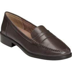 Women's A2 by Aerosoles Side Dish Penny Loafer Brown Faux Leather