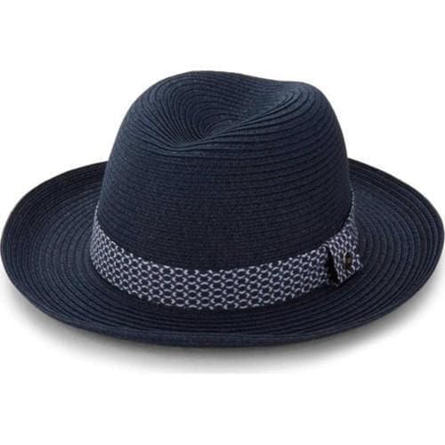 940d0415b33d3 Shop Men s Ben Sherman Braided Straw Trilby Hat Staples Navy - Free  Shipping Today - Overstock.com - 16184767