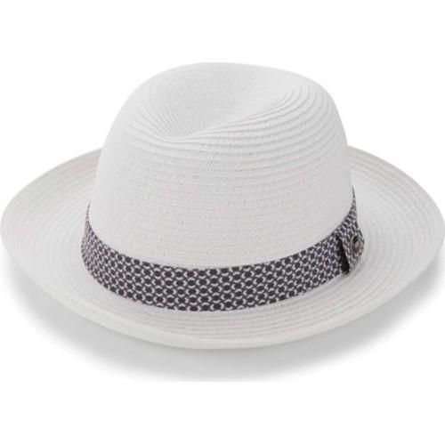 4794180d55ebe Shop Men s Ben Sherman Braided Straw Trilby Hat White - Free Shipping Today  - Overstock - 16184769