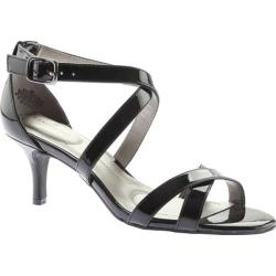 Women's Bandolino Nakayla Strappy Sandal Black Synthetic Patent