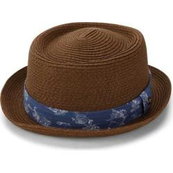 Men's Ben Sherman Braided Straw Pork Pie Hat Tobacco