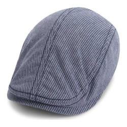 Men's Ben Sherman Linen Stripe Driver Cap Staples Navy