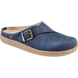 Giesswein Radler Adjustable Clog Slipper Jeans Linen/Leather (More options available)