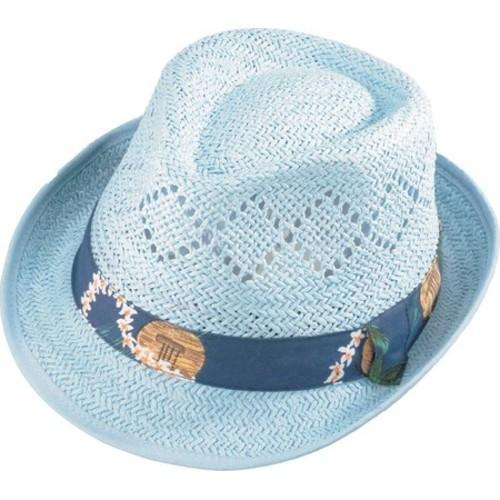 8879047d4ce Shop Henschel Fedora 3260 Vented Paper Straw Hat Light Blue - On Sale -  Free Shipping On Orders Over  45 - Overstock.com - 16184807