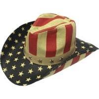 Henschel Americana 3255 Hand Stained Raffia Hat Tan