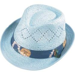 Henschel Fedora 3260 Vented Paper Straw Hat Light Blue