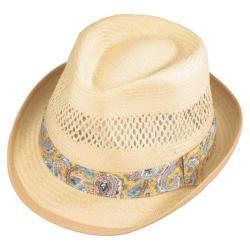 Henschel Fedora 3304 Vented Toyo Straw Hat Wheat