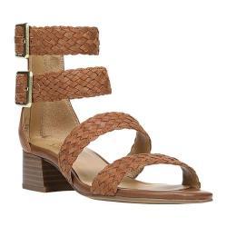Women's Franco Sarto Toma Strappy Sandal Whiskey Hispacho Leather