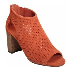 Women's Aerosoles High Frequency Open Toe Bootie Orange Suede