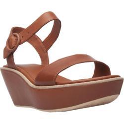 Women's Camper Damas Wedge Sandal Brown Leather