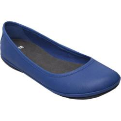 Women's Camper Right Ballerina Flat Pina Blue Smooth Leather