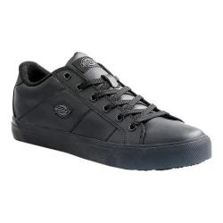 Men's Dickies Trucos Slip-Resistant Safety Work Sneaker Black Leather