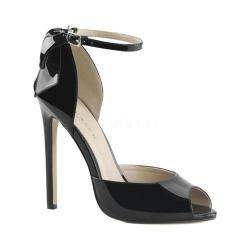 Women's Pleaser Sexy 16 Ankle Strap Black Patent