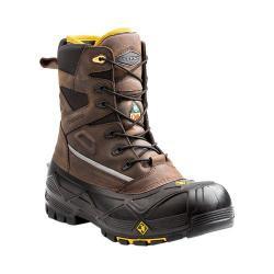 Men's Terra Crossbow XS 8in Waterproof Composite Toe Work Boot Brown Full Grain Waterproof Leather/Nylon
