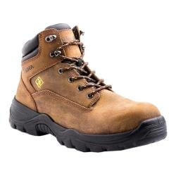 Men's Terra Grafton 6in Composite Toe Safety Work Boot Brown Full Grain Waterproof Leather