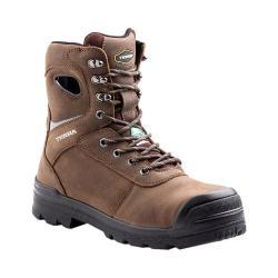 Men's Terra Pilot 8in Waterproof Composite Toe Work Boot Brown Full Grain Waterproof Leather/Nylon