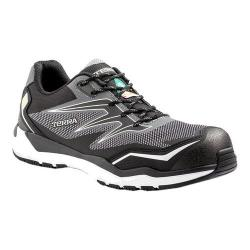 Men's Terra Velocity Lace Composite Toe Safety Work Sneaker Black/White Nylon/Mesh
