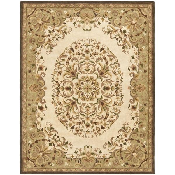 Safavieh Handmade Heritage Timeless Traditional Beige Wool Rug - 4' x 6'