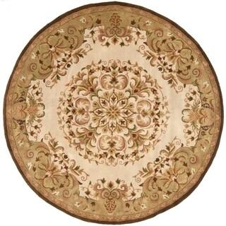 Safavieh Handmade Heritage Timeless Traditional Beige Wool Rug (8' Round)