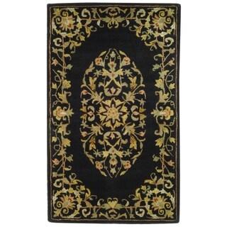 Safavieh Handmade Heritage Timeless Traditional Black Wool Rug (3' x 5')