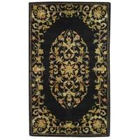 Safavieh Handmade Heritage Timeless Traditional Black Wool Rug - 3' x 5'