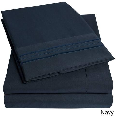 Porch & Den Edinburgh Triple Stitch 4-piece Bed Sheet Set