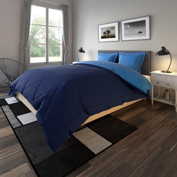 Porch & Den Lakeshore Down Alternative Solid Reversible 3-piece Comforter Set