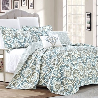 Link to Copper Grove Boylston Ikat Blue 5-piece Coverlet Set Similar Items in Quilts & Coverlets