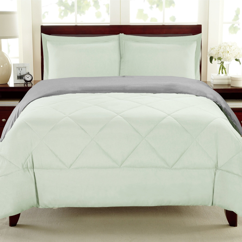 Porch Den Lakeshore Down Alternative Burgundy And Grey Reversible 3 Piece Microfiber Comforter Set Overstock 18604291