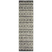 Porch & Den Bonair Titanium and Gardenia Olefin Runner Rug - 2' x 7'5""