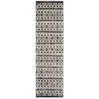 """LR Home Matrix Gypsy Titanium / Garden Indoor Rug ( 2'1 x 7'5 ) - 2' x 7'5"""""""