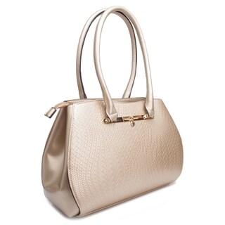 Rosewand Women's 'Sente' Woven Accent Metallic Bag