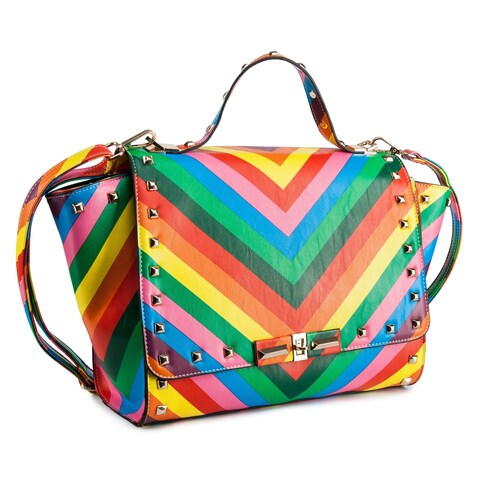 Rosewand Women's 'Lavon' Color Stripes Bag