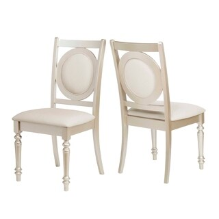 Porthos Home Side Chair With PVC Upholstery And Round Panel (Set of 2)