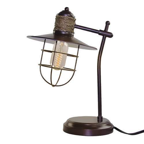 Shop Lnc Iron Cage Table Lamps Rustic Task Lamp Free Shipping