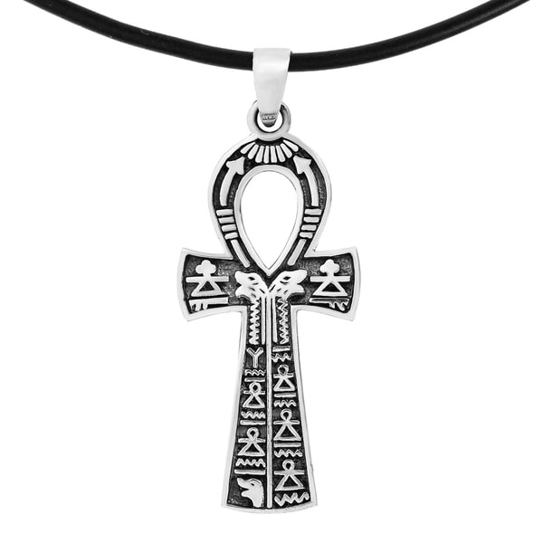 Shop Handmade Gift Of Eternal Life Egyptian Ankh Rubber Necklace