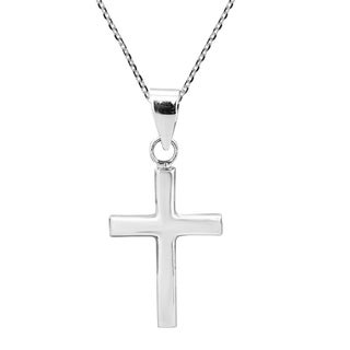 Classic and Timeless Vintage Sterling Silver Cross Dangle Necklace