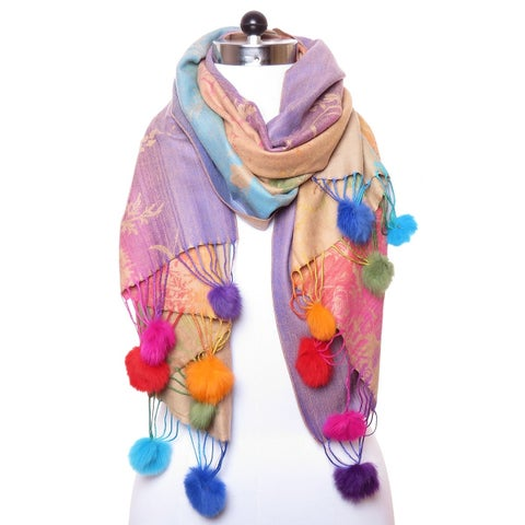 Women's Pashmina Scarf Cashmere Luxury Satin Shawl Wraps