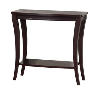 Benzara Stylish Dark Brown Wood Console Table
