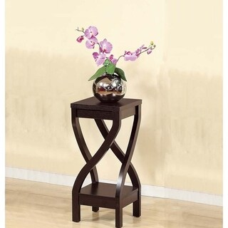 Elegant Design Small Size Plant Stand, Dark Brown