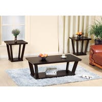 Contemporary Style Coffee & End Table, Set of 3