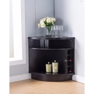 Benzara Dark Brown Eood Space-efficient Stylish Corner Cabinet