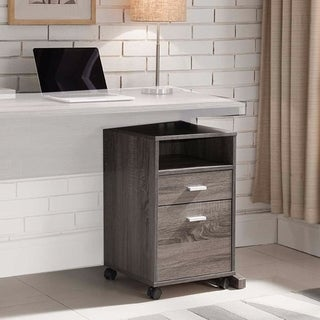 File Cabinet On Wheels With One Shelf, Gray