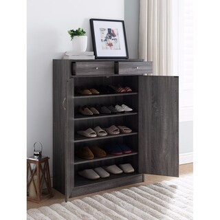 Shoe Cabinet With Spacious Storages, Gray