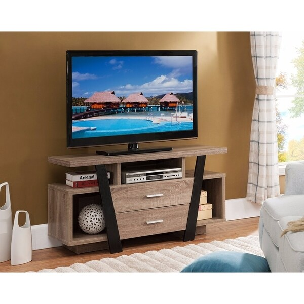 Well Designed Modern Style Tv Stand Black And Light Brown